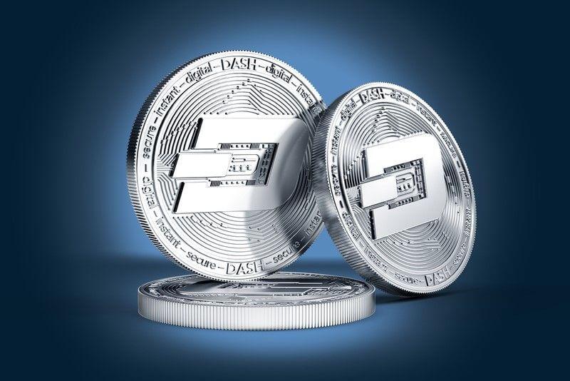 représentation de la crypto-monnaie Dash - Evident Proof accepte les paiements en Dash