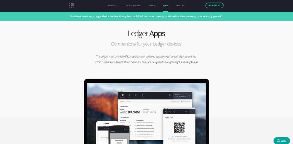 APPS du Ledger Nano S