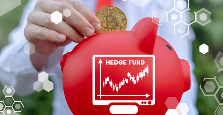Image du Bitcoin dans une tirelire de hedge fund