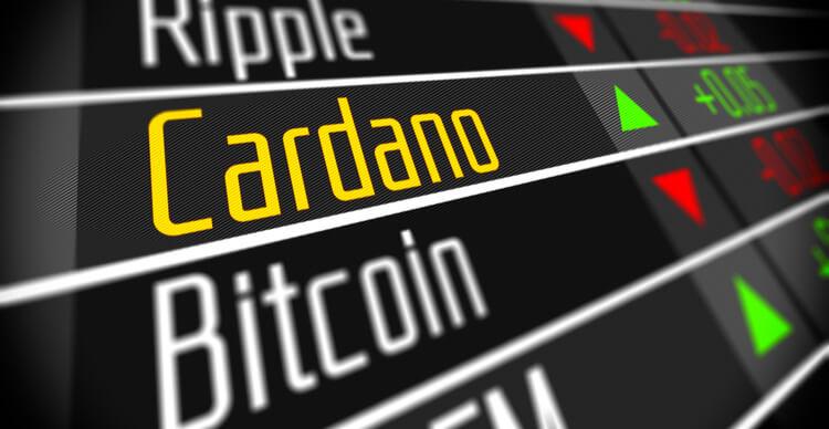 Une image montrant Cardano sur une liste de crypto-monnaies